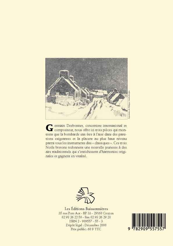 Desbonnet [I]Trois Noëls bretons[/I] pour bombarde et orgue
