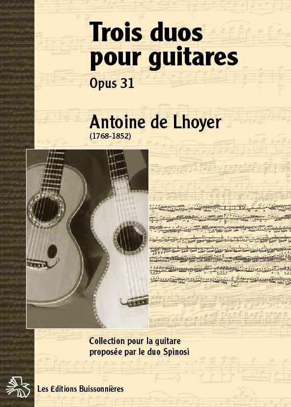 De Lhoyer Duos pour guitares opus 31