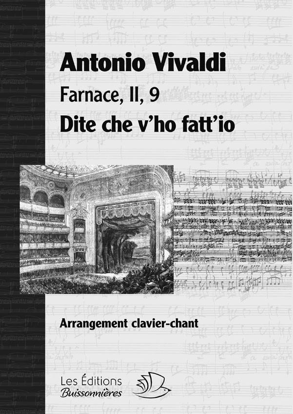 Dite che v'ho fatt'io, Vivaldi (Farnace, II, 9), chant et clavier (piano)