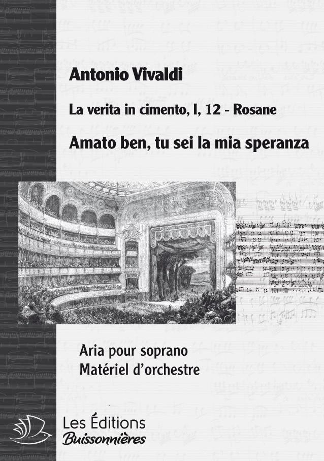 Vivaldi : Amato ben tu sei la mia speranza (La verità in cimento), chant et clavier (piano)