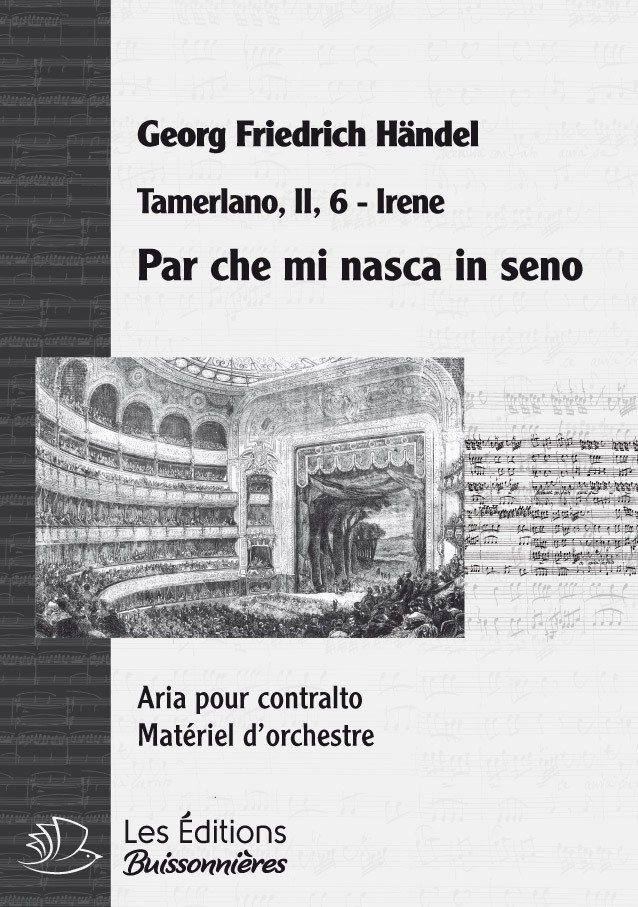 Handel : Par che mi nasca in seno, chant et orchestre