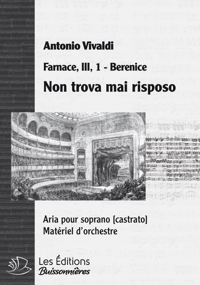 Non trova mai riposo, Vivaldi (Farnace, III, 1), chant et orchestre