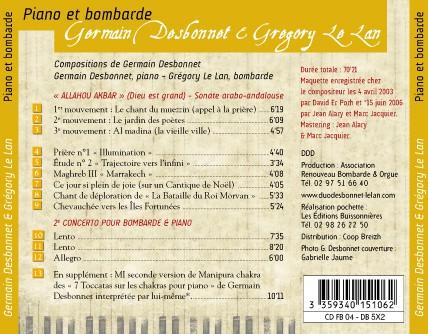 CD Piano et Bombarde