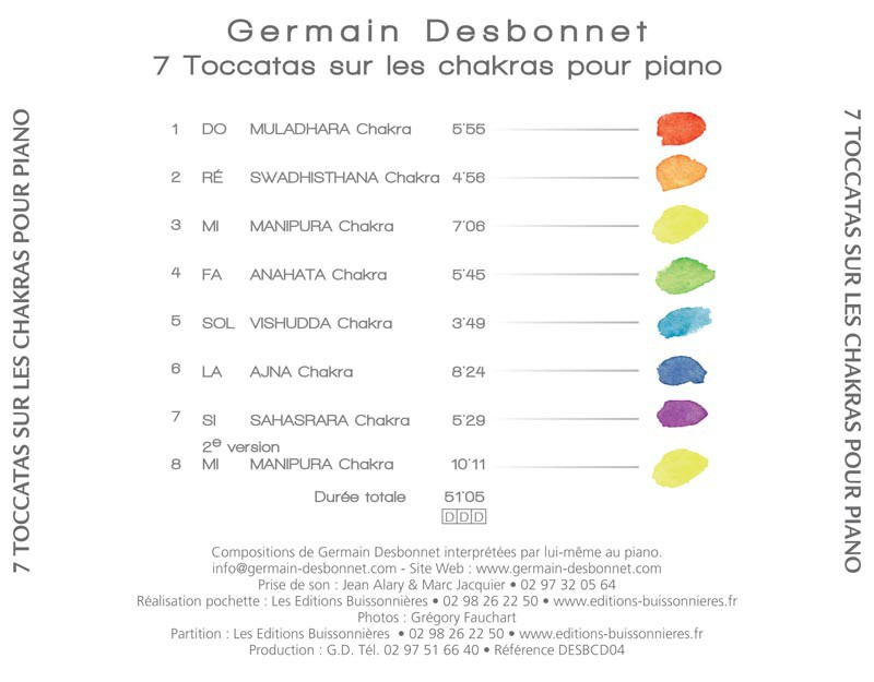 CD Desbonnet Sept toccatas sur les chakras pour piano