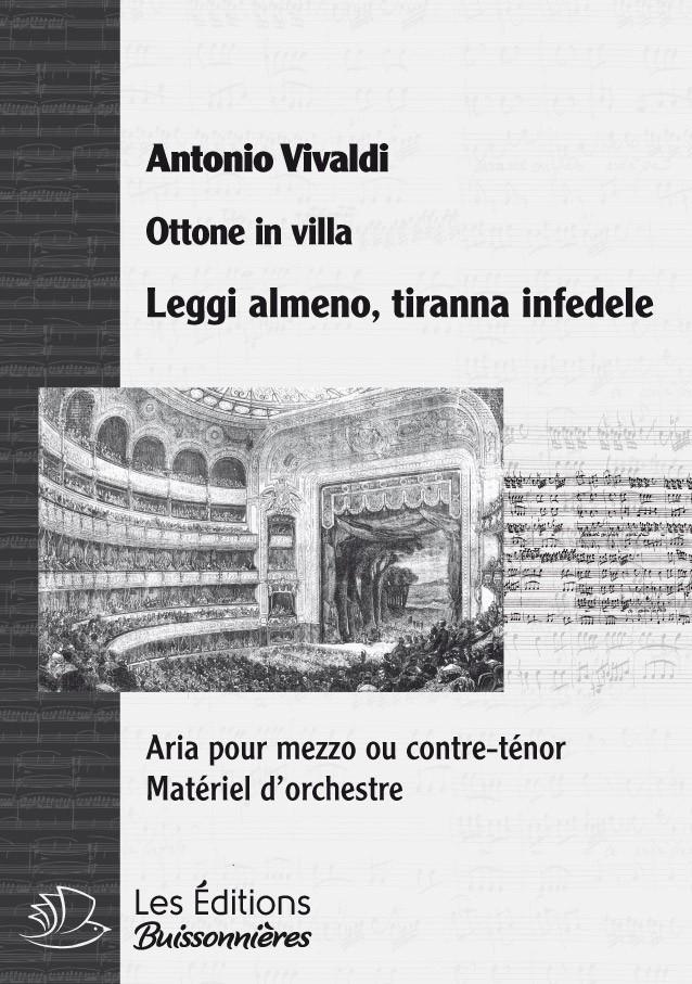Vivaldi : Leggi almeno, tiranna infedele (Ottone in villa), chant et clavier (piano)