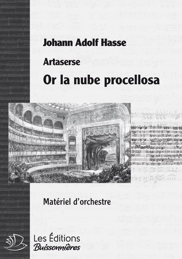 Hasse : or la nube procellosa, chant et orchestre
