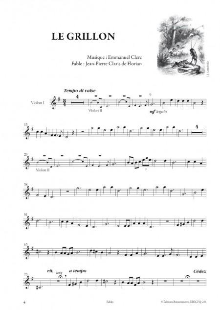 Emmanuel Clerc : Fables, pour quatuor à cordes