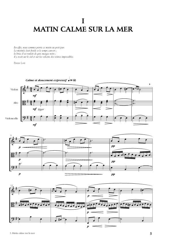 Trio à cordes : Voyage vers l'île de Pâques