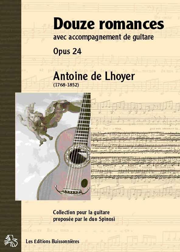 De Lhoyer Douze romances avec accompagnement de guitare