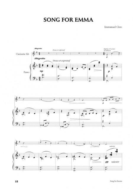Emmanuel Clerc , [I]Six pièces pour clarinette et piano[/I]