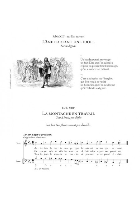 FABLES du 18e siècle, sur de petits airs et vaudevilles choisis