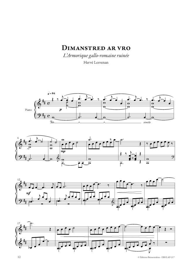 Hervé Lesvenan : Armorica, pièces pour piano