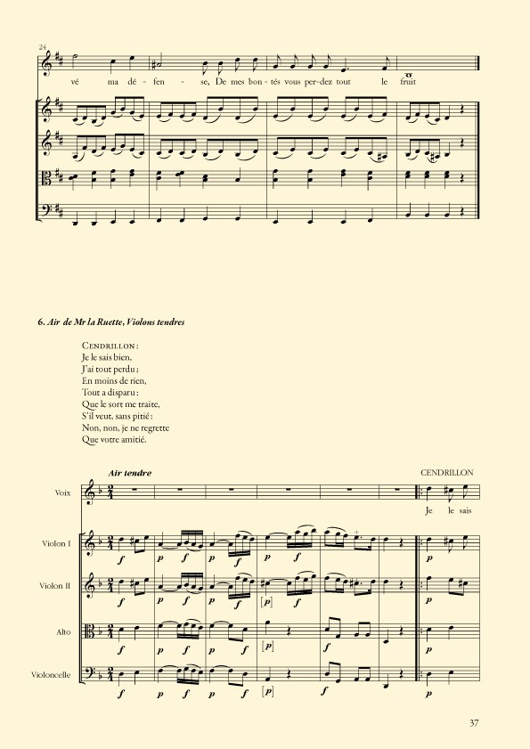 Cendrillon, opéra comique de Jean-Louis Laruette et Louis Anseaume