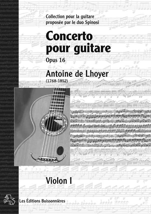 De Lhoyer, [I]Concerto pour guitare[/I][BR] conducteur