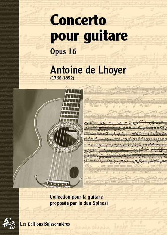 De Lhoyer Concerto pour guitare et orchestre opus 16, Conducteur de poche
