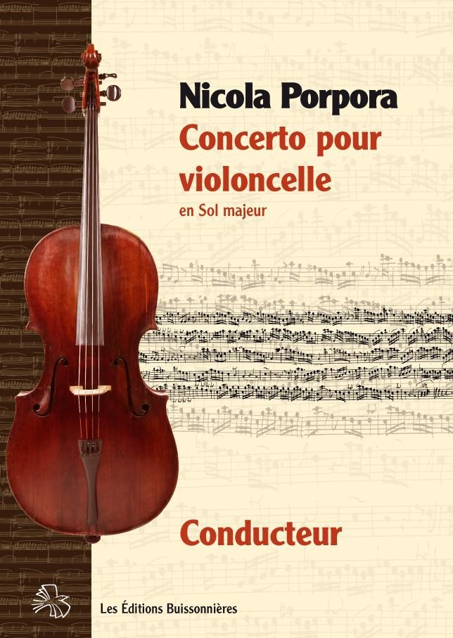 Nicola PORPORA (1686-1768) : concerto pour violoncelle en Sol Majeur, Conducteur & matériel d'orchestre
