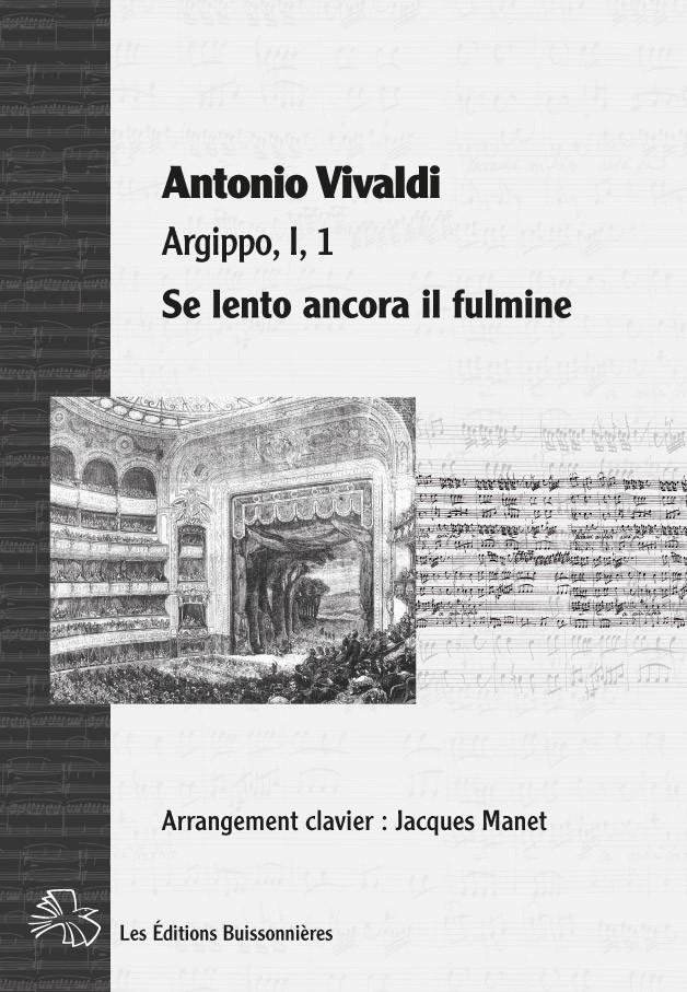 Vivaldi : Se lento ancora il fulmine (Argippo), chant et clavier (piano)