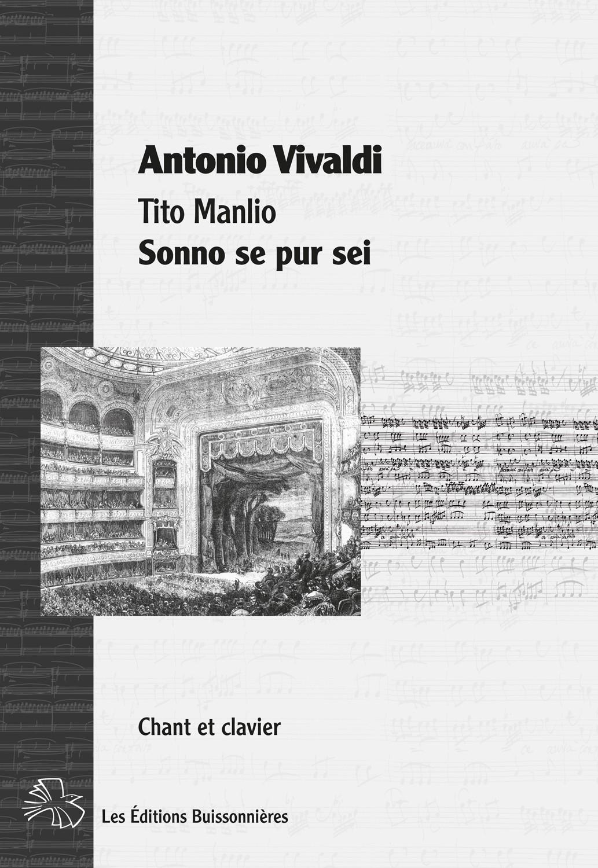 Vivaldi : Sonno se pur sei, Tito Manlio, chant et clavier (piano)