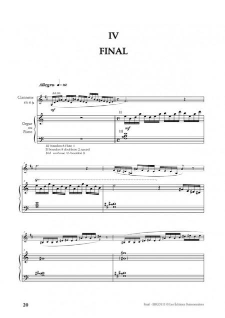 Desbonnet Suite pour clarinette et piano