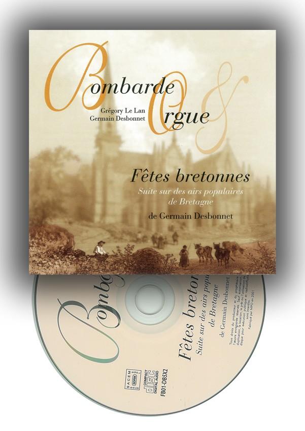 CD Fêtes bretonnes pour bombarde et orgue