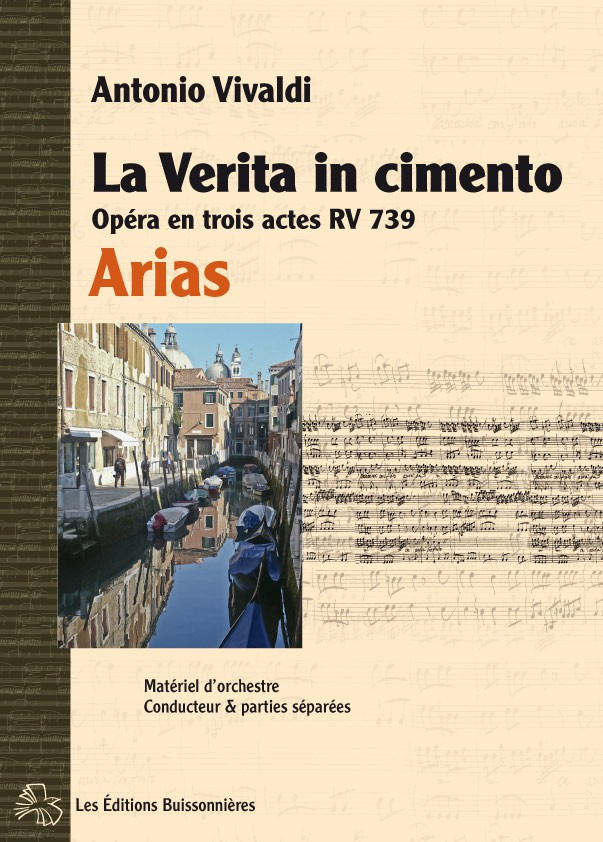 Vivaldi : La Verita in Cimento, opéra RV 739, arias