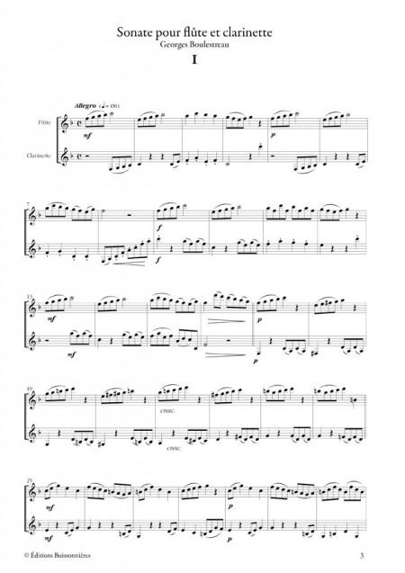 Sonate en duo pour flûte et clarinette