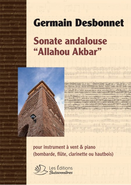 Germain Desbonnet : Sonate Andalouse pour instrument à vent & piano