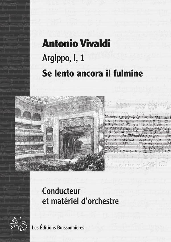 Vivaldi : Se lento ancora (Argippo), chant & orchestre