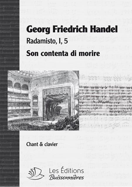 Handel : Son contenta (Radamisto), chant et clavier