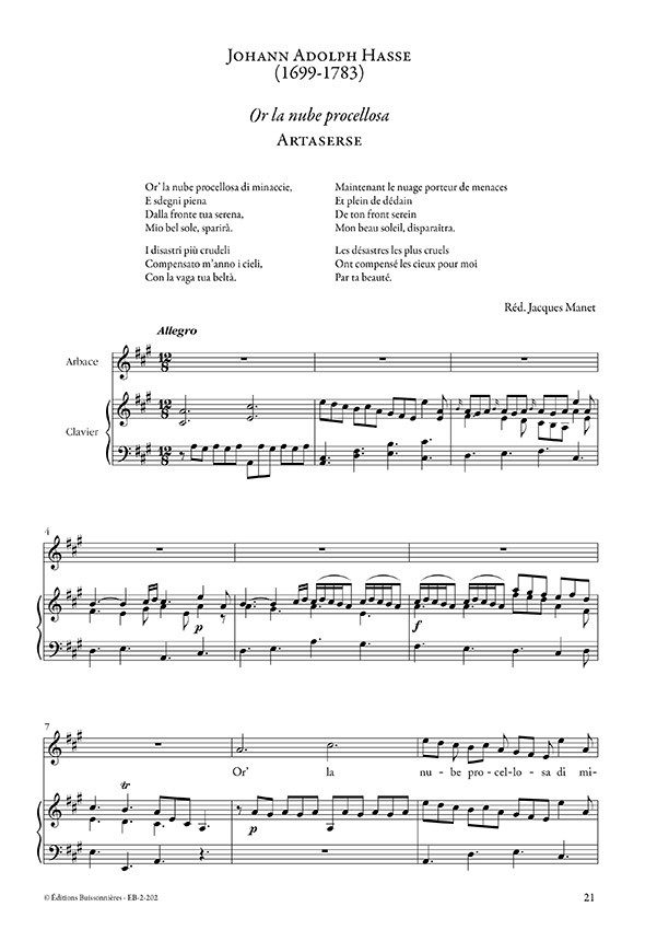 Farinelli : arias pour contre-ténor de Duni, Hasse, Giacomelli (chant & piano)