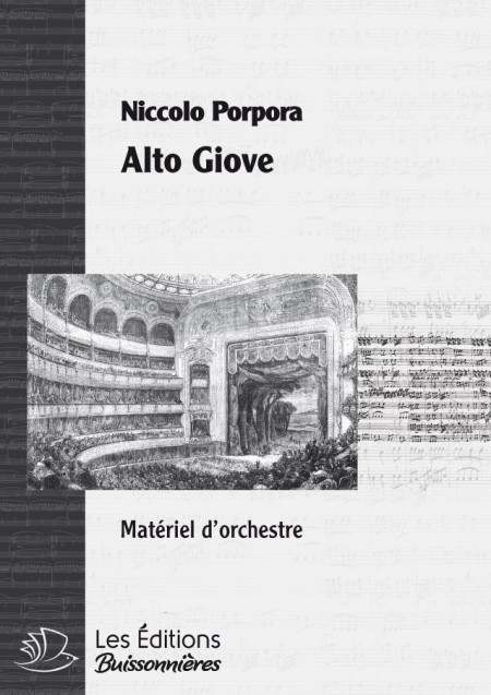 PORPORA : alto Giove, matériel d'orchestre