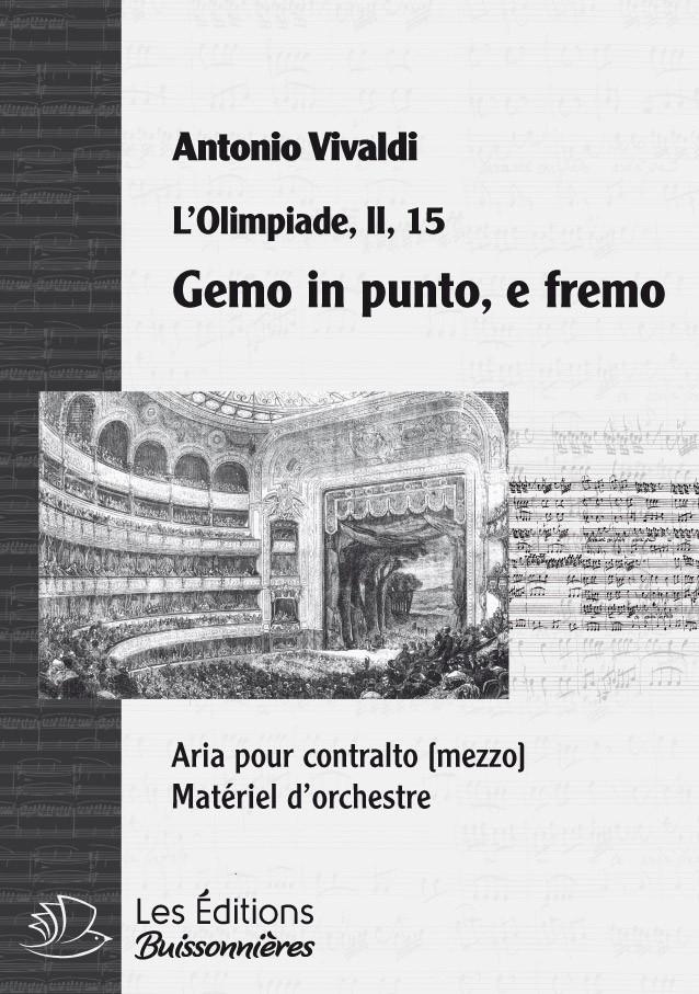 Vivaldi : gemo in punto, e fremo, chant et orchestre