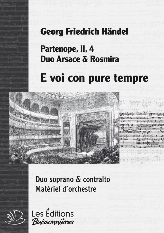 Handel : DUO E voi con pure tempre, chant et orchestre