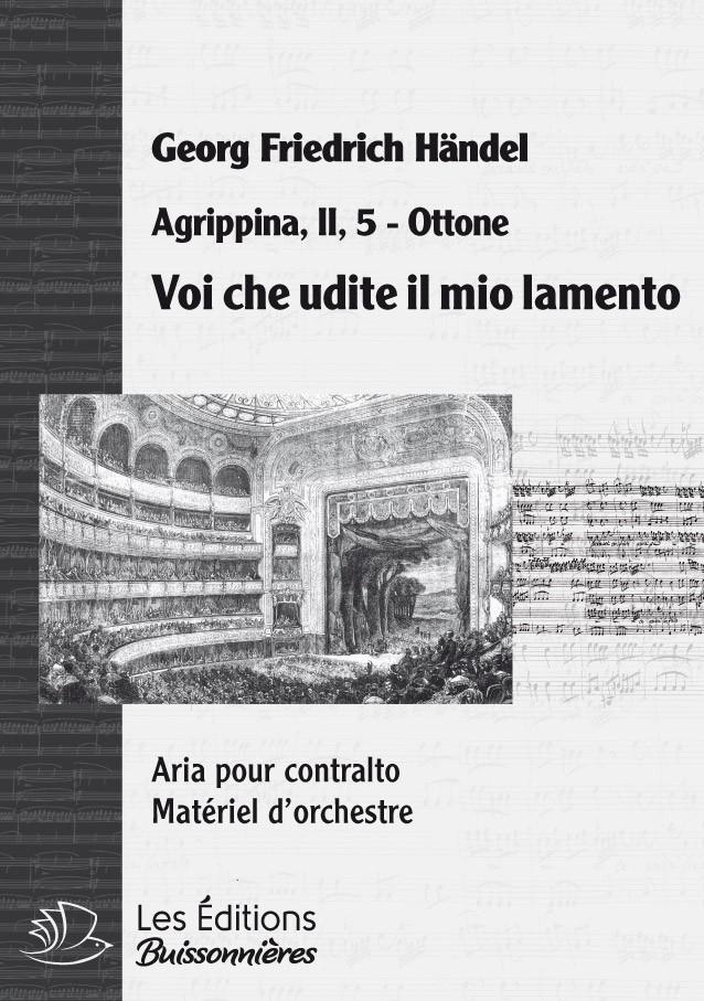 Handel : Voi che udite il mio lamento, chant et orchestre
