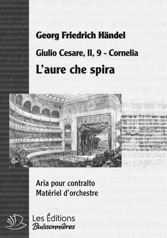 Händel : L'aure che spira (Giulio Cesare), chant et orchestre
