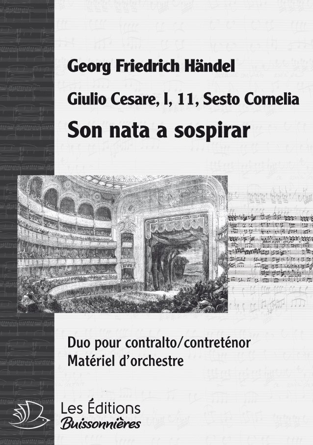 Händel : DUO - Son nata a sospirar, chant et orchestre