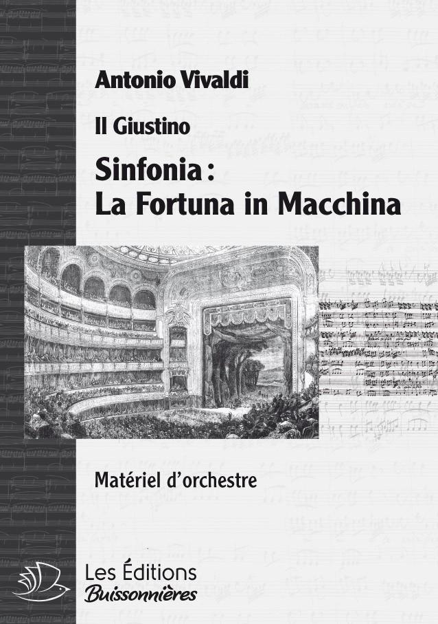 Vivaldi : La Fortuna in Macchina, sinfonia, matériel d'orchestre