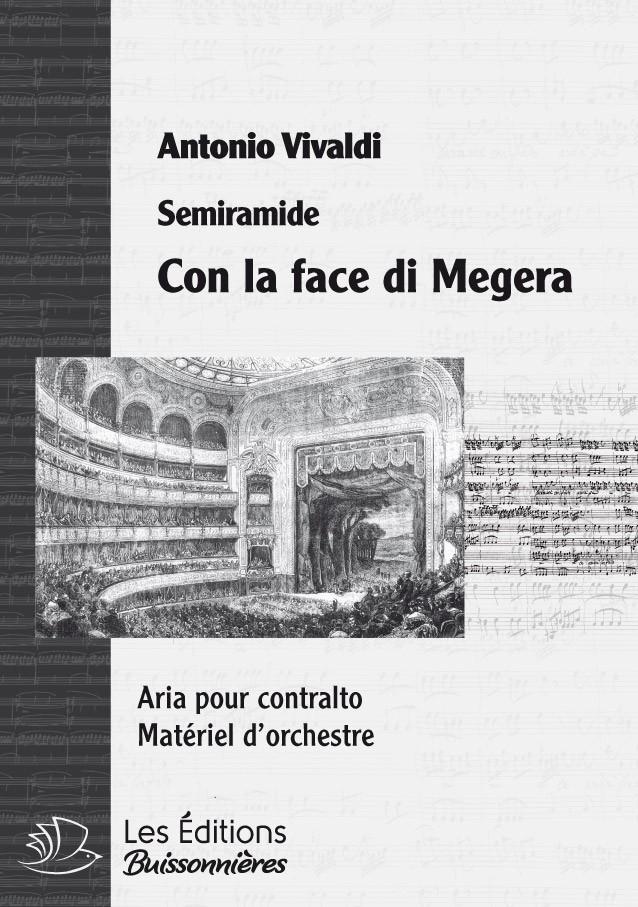 Vivaldi : Con la face di Megera (Semiramide), chant et orchestre