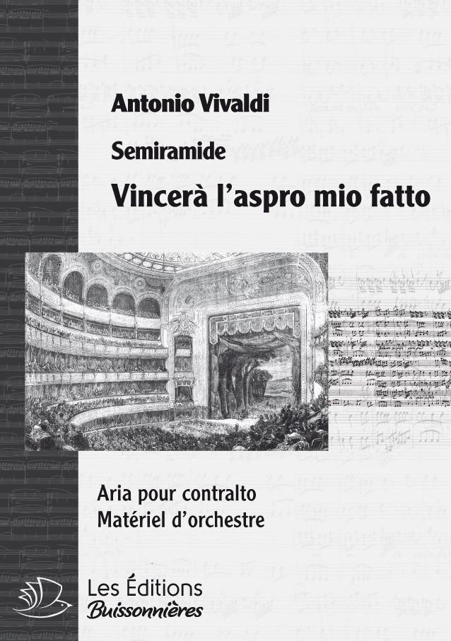 Vivaldi : Vincerò l'aspro mio fato (Semiramide), chant et orchestre