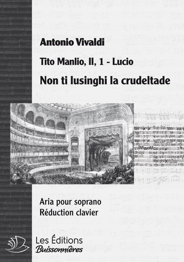 Vivaldi : non ti lusinghi la crudeltade, chant et clavier