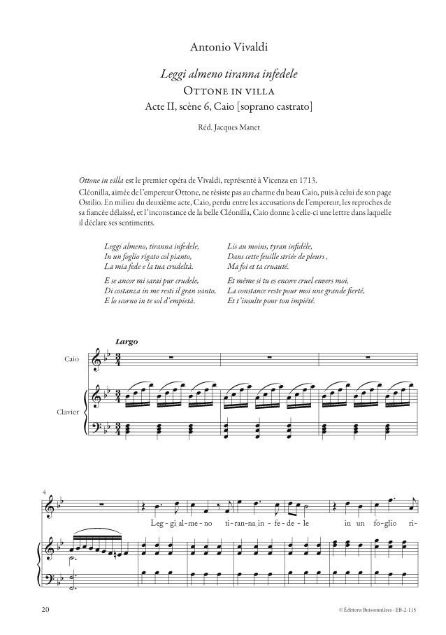 Vivaldi : Airs d'opéras pour Soprano