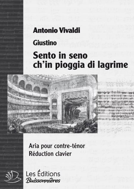 Vivaldi : Sento in seno ch'in pioggia di lagrime (Tietiberga), réduction clavier