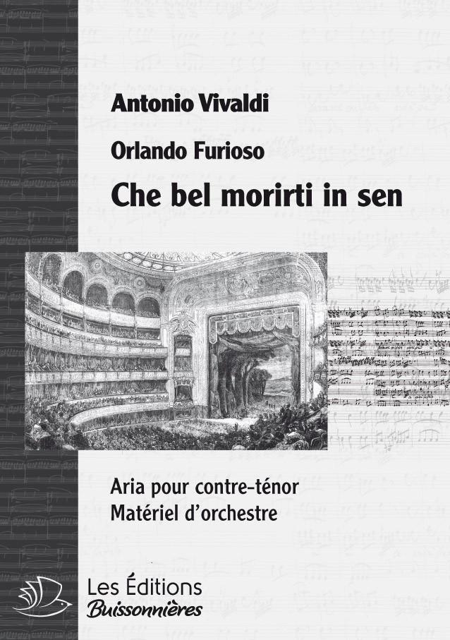 Vivaldi : Che bel morirti in sen (Orlando furioso), conducteur & matériel d'orchestre