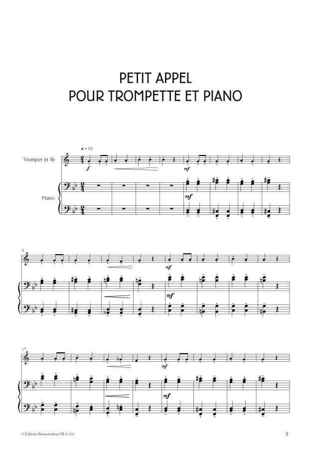 Tu viens jouer ? Trompette et piano