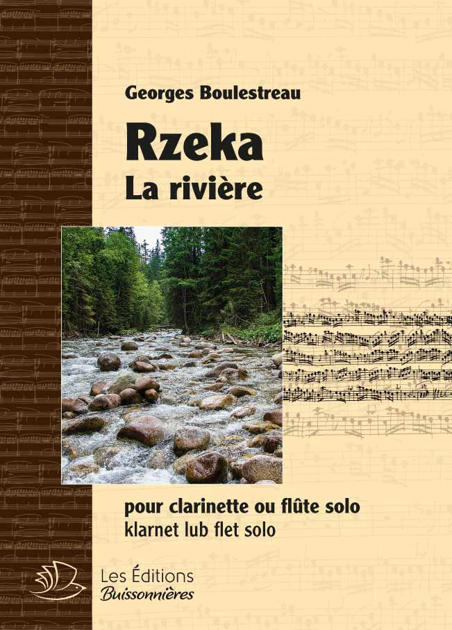 RZEKA pour clarinette ou flûte solo, G. Boulestreau