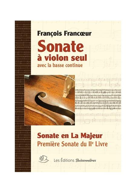 François Francœur : Sonate en La Majeur, sonate i, livre 2