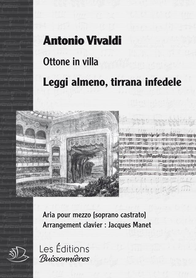 Vivaldi : Leggi almeno, tiranna infedele (Ottone in villa), chant & clavier