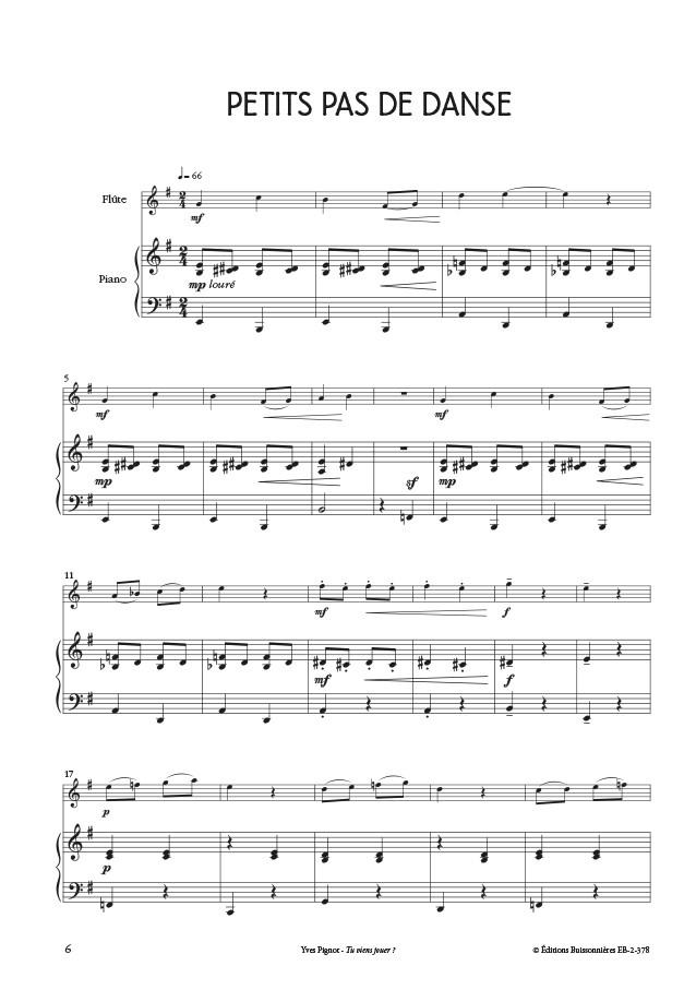 Tu viens jouer ? Flûte et piano