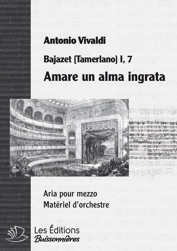 Vivaldi : Amare un cor ingrata (Semiramide), chant et orchestre