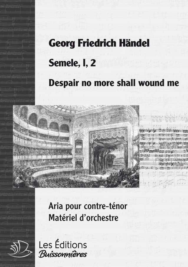 Händel : Despair no more shall wound me (Semele), chant & orchestre